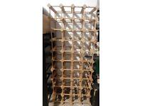 Wooden wine rack,holds 44 bottles..