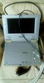 Portable DVD player with charger