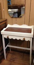 Handy console/hall table/Desk,Marble Top*Upcycled*