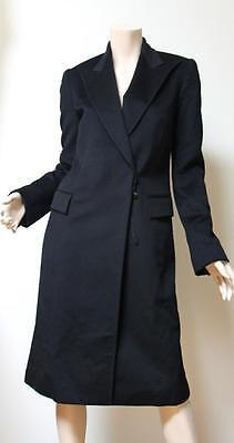 New $3540 Gucci Wool Cashmere Black Coat Size 38