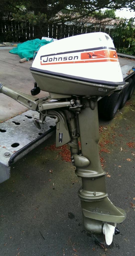 Long Shaft Outboard Motors : Johnson hp seahorse stroke long shaft outboard engine