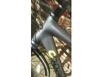 BOARDSMAN carbon fibre hybrid racing bike spec