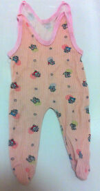 Pink newborn pants/bodysuit 0-3