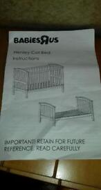 Cotbed with mattress