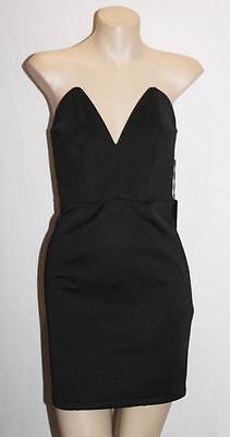 FOREVER 21 Designer Black Sweet Heart Strapless Dress Size S BNWT #SY13