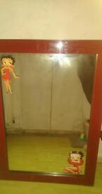 Betty boop collectable mirror genuine fab condition hardly used