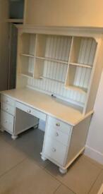 Ethan Allen cream desk and shelves