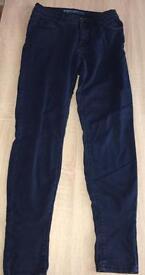 Women's navy super skinny jeans size 8.