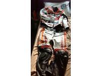 Repsol two piece bike leathers
