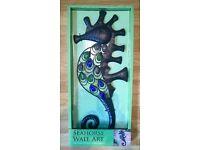 Brand new Garden or home seahorse wall art