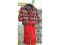 Kid's ski jacket, salopettes and snow boots
