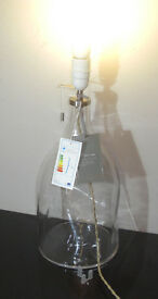 "Hotel Dimple Large 19"" Tall Glass Bottle Lamp Base"
