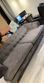 Grey Chesterfield 3 seater