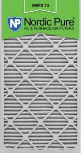 NEW Nordic Pure 16x30x1M13-6 16x30x1 MERV 13 Pleated AC Furnace Air Filter, Box of 6,