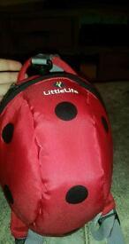 Little life ladybird back pack/ reins