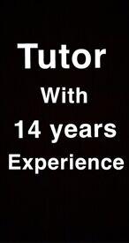 Tutor / teacher with 14 years experience