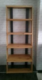 Brand new RealOak 6 bookshelf With Steel frame