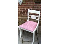 Lovely Shabby Chic Dining/Living/Bedroom Chair painted in Antique White