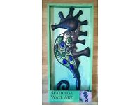 Brand new Seahorse wall art suitable for indoor or outside use now reduced to £6