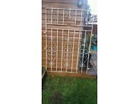 """Large Wrought Iron Security Gate 62"""" x 43"""""""