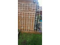 "Large Wrought Iron Security Gate 62"" x 43"""