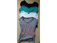 4 x maternity tops, size 10, short sleeved, New Look, in great used condition