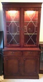 Mahogany glass display cabinet £60 ONO