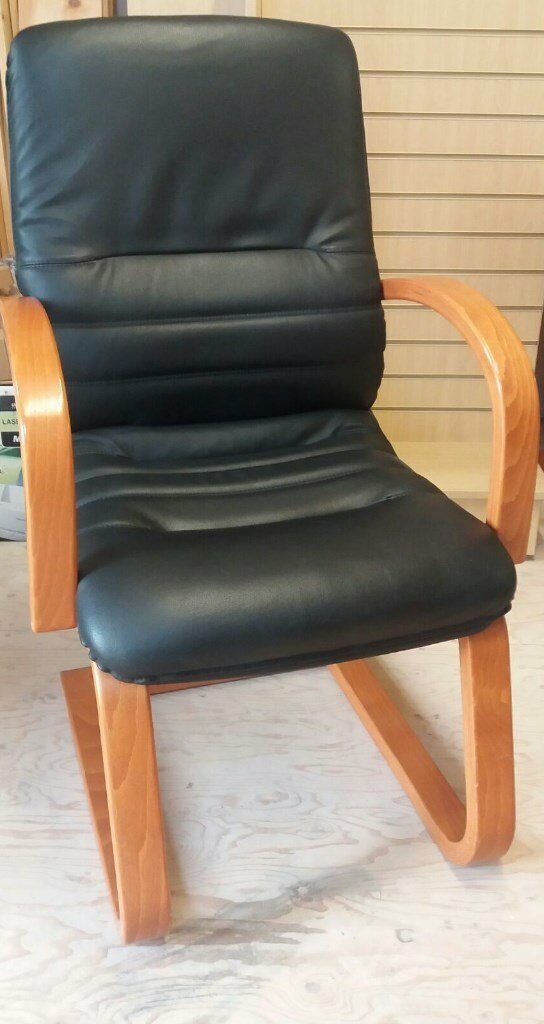 Office boardroom leather chairs black in colour