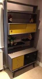 Retro G-Plan shelving unit vintage room divider shelves