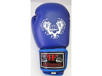 Furiousfistsuk Boxing Training Wings logo Gloves 14oz (Blue Color)