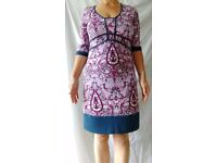 Beautiful designer maternity dress by Tete a tete, size 10 to 12