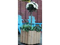 For sale. Brand new sturdy handmade wooden planter