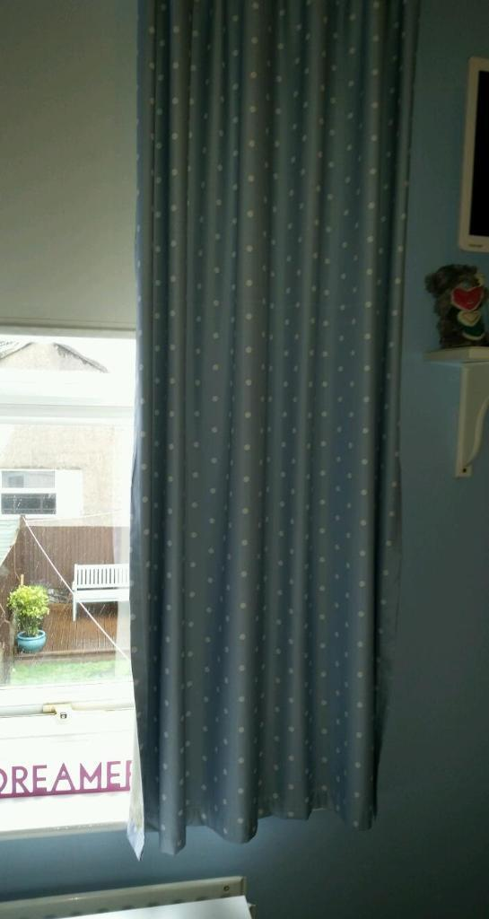 Pencil Pleat Pale Blue Black Out Curtains In Fishponds
