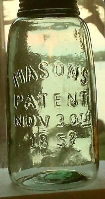 Unique Replica Vintage MASON PATENT 1858 Canning Fruit Jar Green Half Gallon