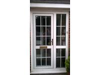 Double glazed PVC front door