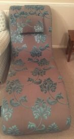 Dfs grey and turquoise chaise Longue