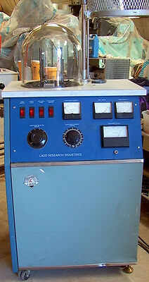 "12"" Ladd Research Vacuum Evaporator Bell Jar Unit M/N30000 2 elements & pumps"
