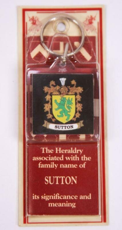 Family Name SUTTON Booklet & Key Chain Heraldry Significance Associated With NEW