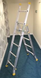 Three Way Diall Combination Step Ladder / Extending Leaning Ladder