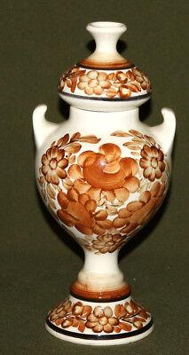 Vintage Polish floral porcelain urn