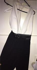 Black & white Boohoo jumpsuit never worn