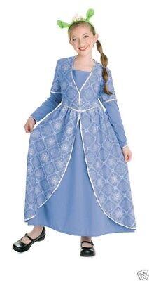 Girls Child Shrek The Third Blue Princess Fiona Dress Costume Outfit - Princess Fiona Costume Kids