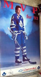 Autographed Gilmour MVP 93 Post Hockey Maple Leaf Poster Picture