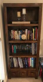 'PAD' solid wood bookcase with storage drawers