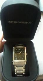Men's genuine Armani silver watch