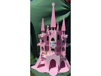 well loved and cared for wooden fairy castle / palace (Early Learning Centre) + fairies and kit