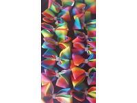 Rainbow coloured hair bows