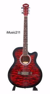 Acoustic Guitar for beginners students Red iMusic211