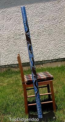 "59""150cm DIDGERIDOO + Bag + Beeswax Mouthpiece, Dot-Painted Bamboo Handwork Art"