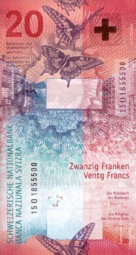 SWITZERLAND 20 FRANCS 2017 P-NEW UNC